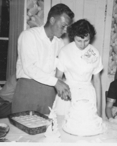 Mom & Dad on their wedding day.